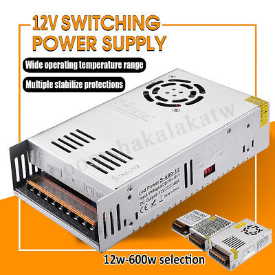 LED Driver Power Supply AC 100-240V to DC 12V 12W-600W LED Lighting Adapter AU