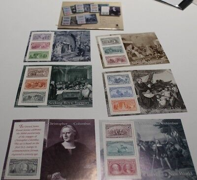 MINT 1992 THE VOYAGES OF CHRISTOPHER COLUMBUS x 6 SHEETS FV $16.34
