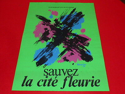 Collection R JEAN MILL ART 20th MANESSIER CITE FLORAL 74 SCREEN PRINTING