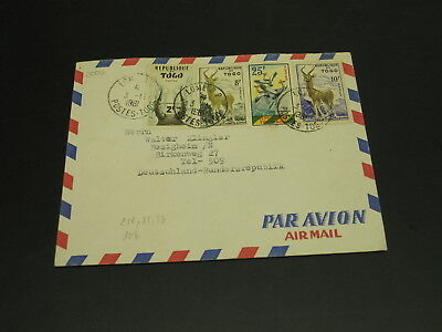 Togo 1961 airmail cover to Germany *3002