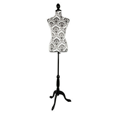 Female Mannequin Torso Body Dress Form with Black Adjustable Tripod Stand