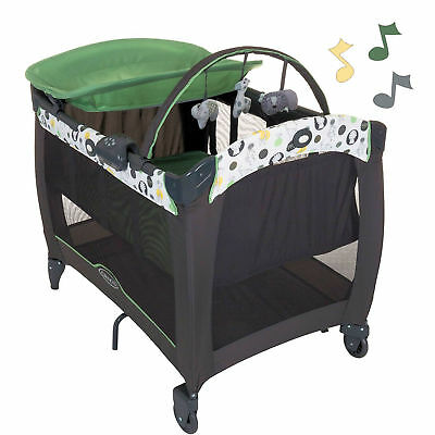 New Graco Balancing Act Contour Electra Bassinette Crib Travel Cot With Changer