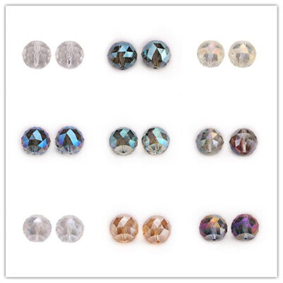 20mm 5PC Faceted Glass Crystal Round Loose Spacer Beads Jewelry Bracelet Making