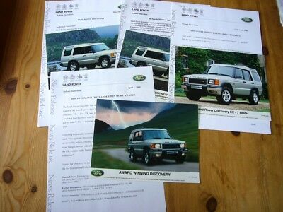 Land Rover Discovery II press releases & photos, 2000s, excellent condition