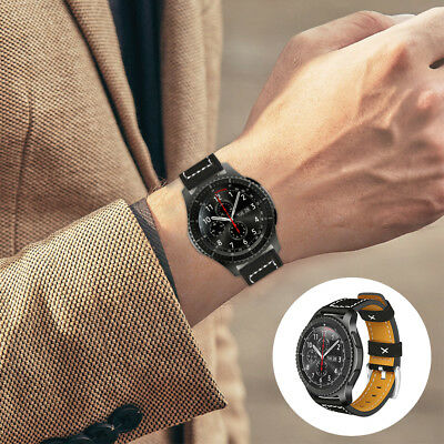 Quick Release Leather Watchband Strap For Samsung Gear S3 Classic/Frontier TH833