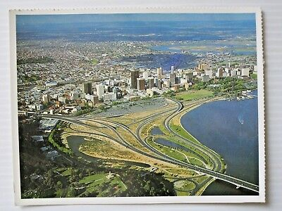 POSTCARD - perth & narrows bridge AERIAL VIEW - POSTAGE $1.50