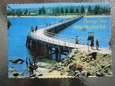 Postcard Victor Harbor The Causeway & Granite Island - Postage $1.50