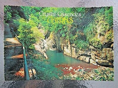 POSTCARD CRYSTAL CASCADES Nth QUEENSLAND SWIMMING SPOT - POSTAGE $1.50