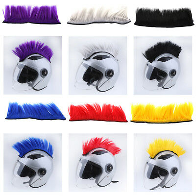 Motorcycle Adhesive Helmet Mohawk Hair Patches Skinhead Costumes Wig