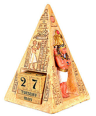 Ancient Egyptian Pharaoh's Calendar Office Display Home Decor Figurine Statue