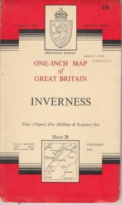 Inverness: One-inch Map of Great Britain: Sheet 28  : Ordnance Survey