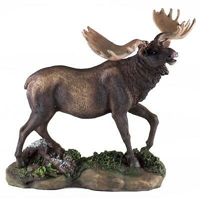 """Moose Figurine 5.5"""" High Detailed Resin New In Box"""