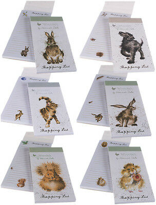 Wrendale Magnetic Shopping List Pad by Hannah Dale - Choice of Designs Available