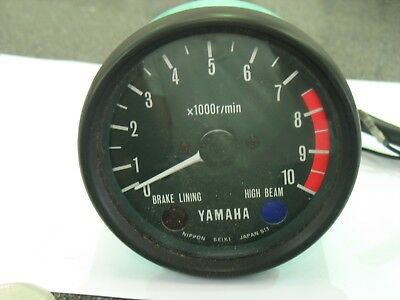 Yamaha Vintage Tacho Clock Tachometer Clock With Brake Lining Lamp Genuine New