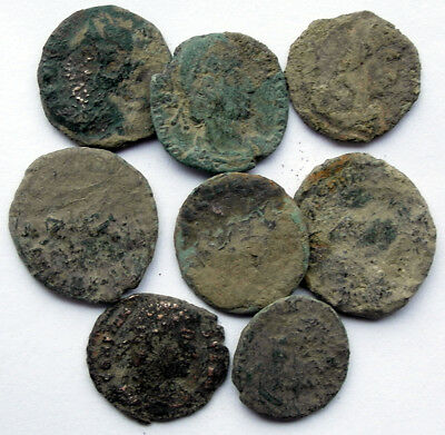 UNCLEANED  GENUINE ROMAN Æ COINS - UK find