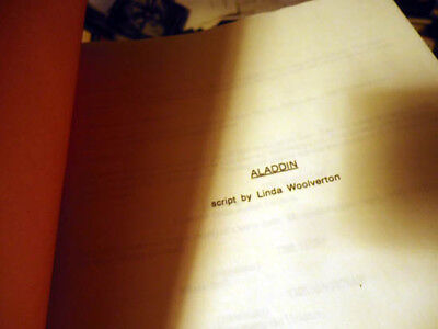 ORIGINAL 1989 FIRST DRAFT DISNEY ALADDIN SCRIPT w/ GULLERUD NOTES 72 page ENTIRE