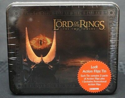 Sealed Lord Of The Rings *two Towers* Cards/packs Action Flipz Tin Free S&h