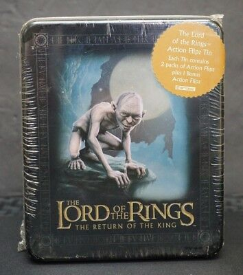 Sealed Lord Of The Rings *return Of King* Cards/packs Action Flipz Tin Free S&h