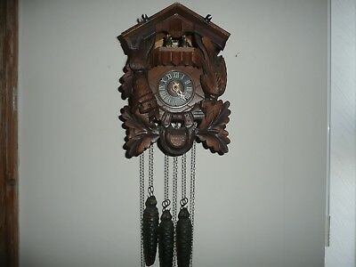 Vintage, Triple Weight, Black Forest, Musical Cuckoo Clock, For Restoration.