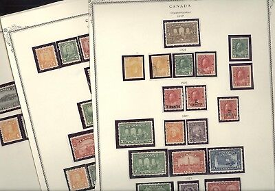 CANADA(1917-1932), Excellent Mostly MINT(many NH) Stamps mounted on trimmed page