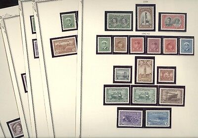 CANADA(1939-1954), Beautiful Mint NH Stamp Collection mounted on trimmed Scott p