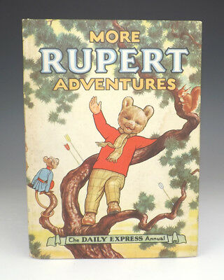 Vintage 1952 More Rupert Adventures Annual - Good Condition - Unusual!