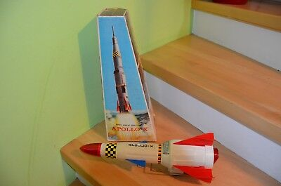 Rare Space Toys Apollo-X Rakete Nr. 425 + Box Made in HongKong 60/70er Jahre
