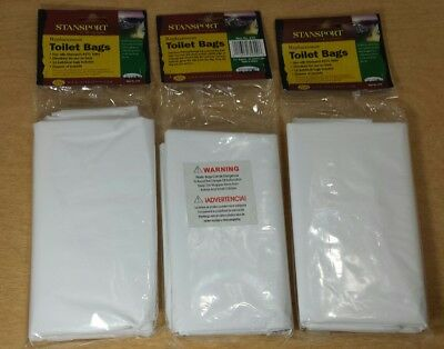 LOT 36 Stansport Portable Toilet Replacement Bags Camping Emergency Survival