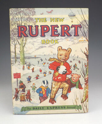 Vintage 1951 The New Rupert Book - Rupert Annual - Good Condition - Unusual!