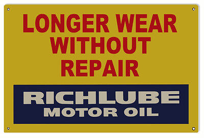 Richlube Motor Oil Gas Station Sign