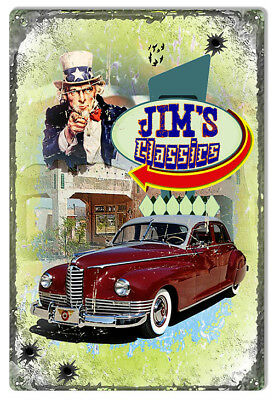 Distressed Jims Classics Sign By Artist Phil Hamilton 12x18