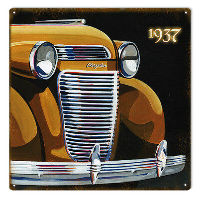 Original Art by Bob Miller 1936 Chrysler Front End  Sign