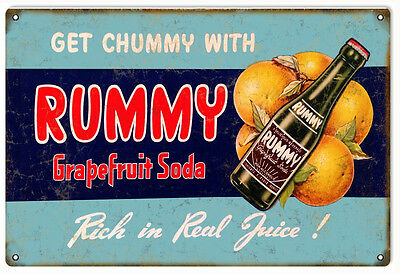 Reproduction Rummy Soda Country Advertisement Sign