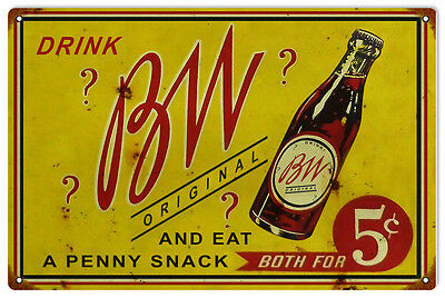 Reproduction BW 5 Cent Soda Sign