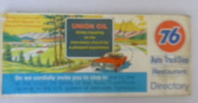 1972 United states interstate road map Union 76 oil gas Auto Truck Stop location