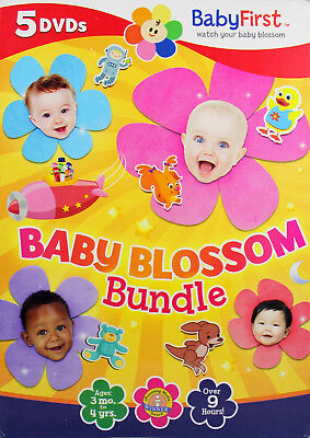 BabyFirst Baby Blossom Bundle 5 NEW DVD Sweet Dreams Numbers Shushybye Art Music