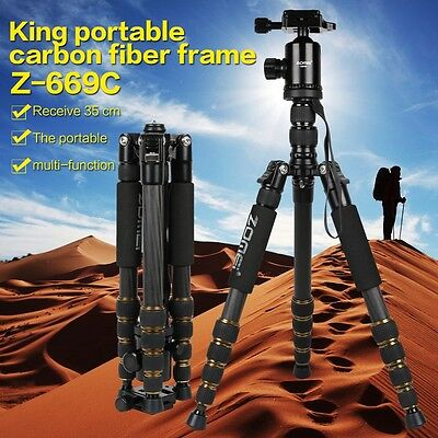 ZOMEI Z669C Professional Carbon Fiber Tripod & Monopod Ball Head for DSLR Camera