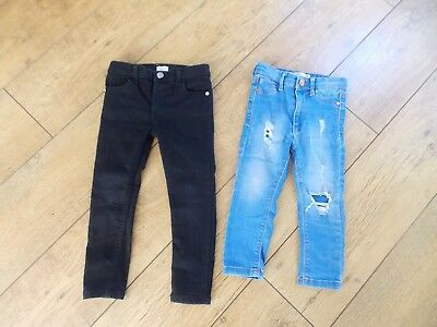 Girls River Island Molly Amelie Skinny Jeans Age 3-4 Years