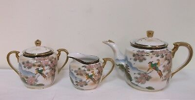 Vintage Japanese Tea Pot, Creamer & Sugar