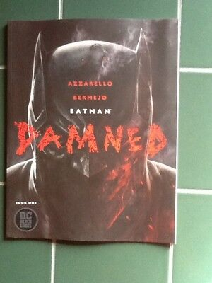 """Batman Damned Cover""""A"""" Issue 1 of 3 DC Black Label Comic"""