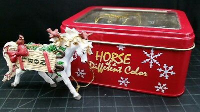 "Westland Horse of a Different Color Xmas ornament  ""Noel"" New in metal box"