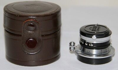Nikon W Nikkor New Style 3.5cm f/3.5 M39 Leica Threadmount Very Nice With Case