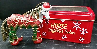 "Westland Horse of a Different Color Xmas ornament  ""Elf"" New in metal box"