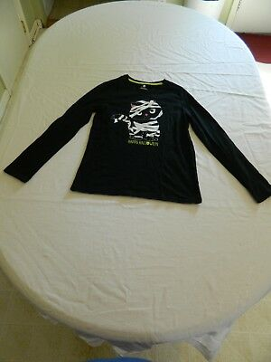 Unbranded Girls Happy Halloween Mummy Cat Long Sleeve Shirt Size 14-16 or 12-14