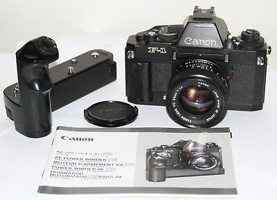 Canon New F-1 + AE Finder FN + FD 50mm f/1.4 Lens & AE Power Winder FN 35mm SLR