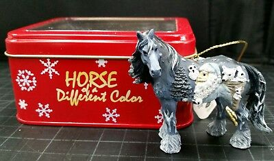 "Westland Horse of a Different Color ornament  ""Woodland Santa"" New in metal box"