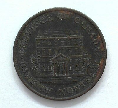 Canada 1844 1/2 Penny Montreal Bank Token  Choice Extremely Fine