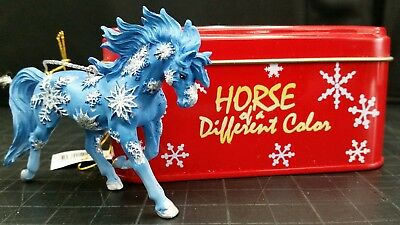 "Westland Horse of a Different Color ornament Xmas ""Snowflakes"" New in metal box"
