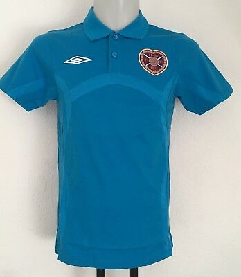 Hearts Fusion Blue Bench Cotton Polo Shirt By Umbro Size Men's Small Brand New