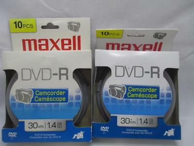 20 Maxell DVD-R Camcorder Discs 30 Minutes 1.4GB
